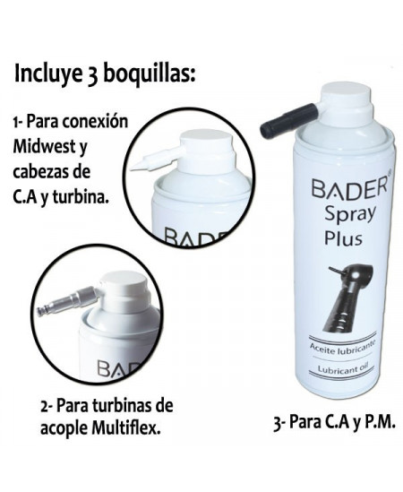 SPRAY LUBRICANTE 500ML CON 3 BOQUILLAS