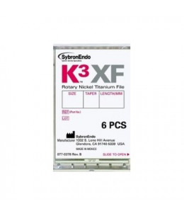 K3 XF FILE.15/.06 25mm. 6uds.