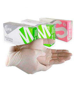 GUANTES LATEX LUNA 100u.