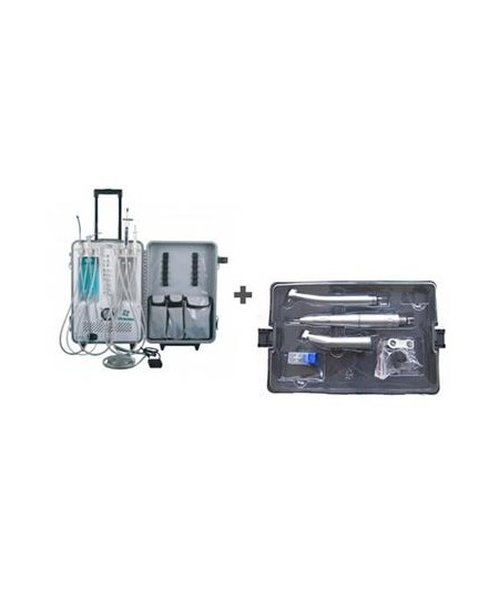 UNID.DENTAL RODABLE AUT. TROLLEY 6 MANGUERAS + ESTUCHE TECHNOFLUX